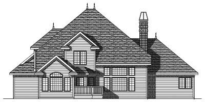 Rear Elevations Plan:7-415