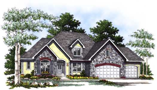 French-country Style House Plans Plan: 7-416