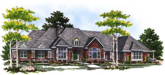 French-country Style Floor Plans Plan: 7-417