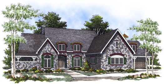 European Style House Plans Plan: 7-418