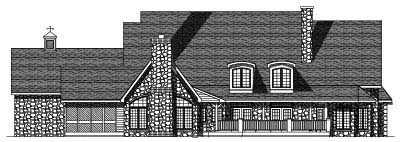 Rear Elevation Plan: 7-418