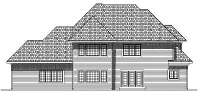 Rear Elevation Plan: 7-420