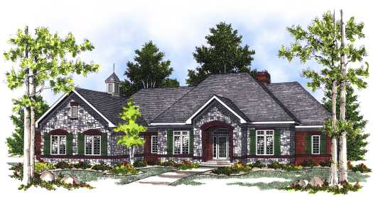 European Style House Plans Plan: 7-421