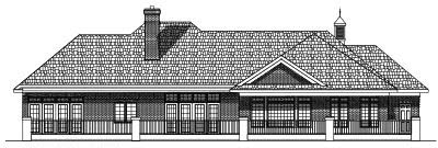 Rear Elevation Plan: 7-421