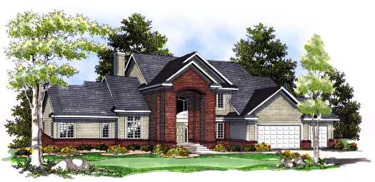 Traditional Style Home Design Plan: 7-422