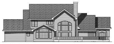 Rear Elevation Plan: 7-422