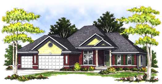 Traditional Style Home Design Plan: 7-424
