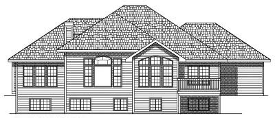 Rear Elevation Plan: 7-424
