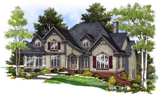 French-country Style Floor Plans Plan: 7-425
