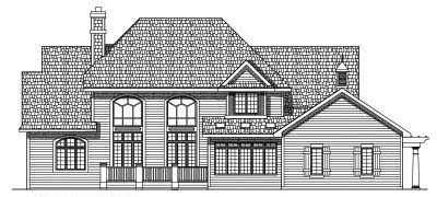 Rear Elevation Plan: 7-425