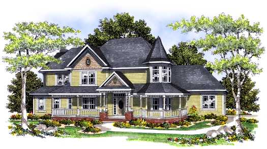 Victorian Style Home Design Plan: 7-427