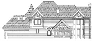 Rear Elevation Plan: 7-427