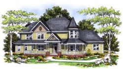 Victorian Style House Plans Plan: 7-427