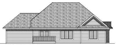 Rear Elevation Plan: 7-429