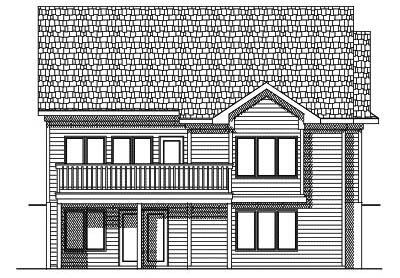 Rear Elevation Plan: 7-430