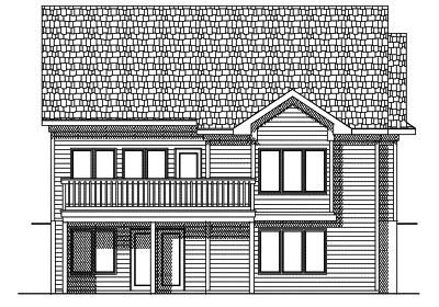 Rear Elevation Plan: 7-431