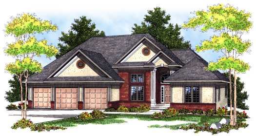 Traditional Style Home Design Plan: 7-433