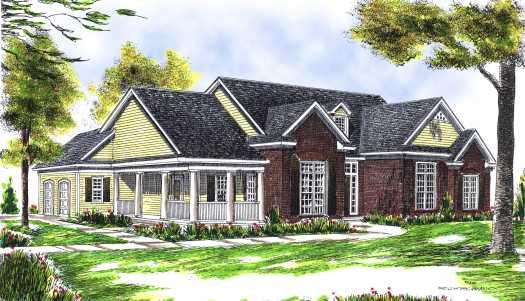 Traditional Style Home Design Plan: 7-434