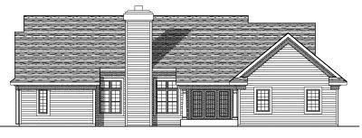 Rear Elevation Plan: 7-434