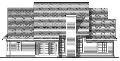Rear Elevation Plan: 7-435