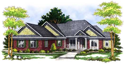 Traditional Style Home Design Plan: 7-436
