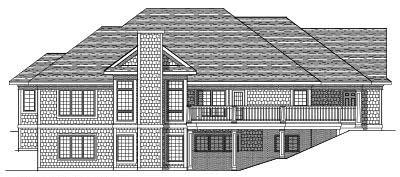 Rear Elevation Plan: 7-436