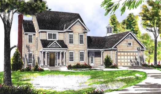 Colonial Style House Plans Plan: 7-437