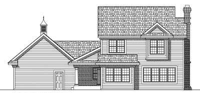 Rear Elevation Plan: 7-437