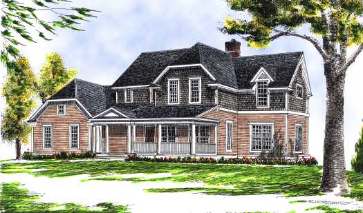 Country Style Home Design Plan: 7-438