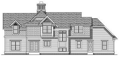 Rear Elevation Plan: 7-438