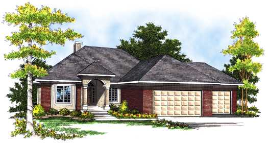 Traditional Style Home Design Plan: 7-439