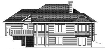 Rear Elevation Plan: 7-439