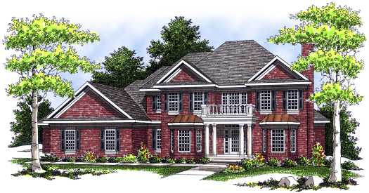 New-england-colonial Style Home Design Plan: 7-441