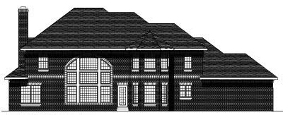 Rear Elevation Plan: 7-441