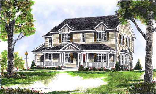 Country Style Floor Plans Plan: 7-442