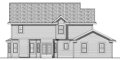 Rear Elevation Plan: 7-442