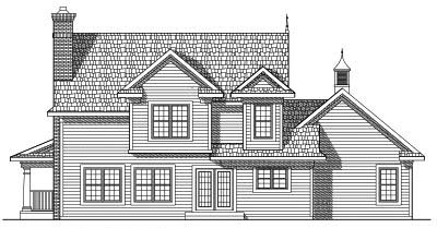 Rear Elevation Plan: 7-443