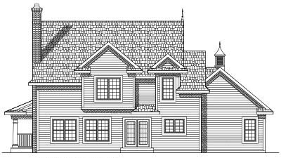 Rear Elevation Plan: 7-444
