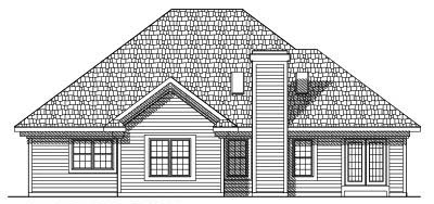 Rear Elevation Plan: 7-446