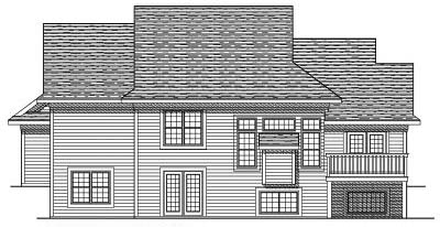 Rear Elevation Plan: 7-447