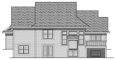 Rear Elevation Plan: 7-448