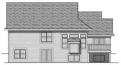 Rear Elevation Plan: 7-449