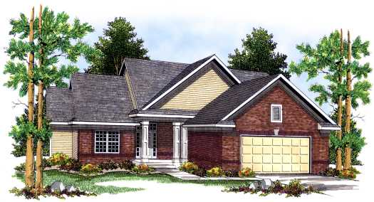 Traditional Style Home Design Plan: 7-450