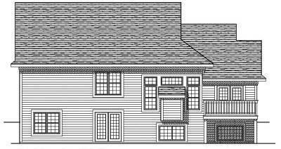 Rear Elevation Plan: 7-450