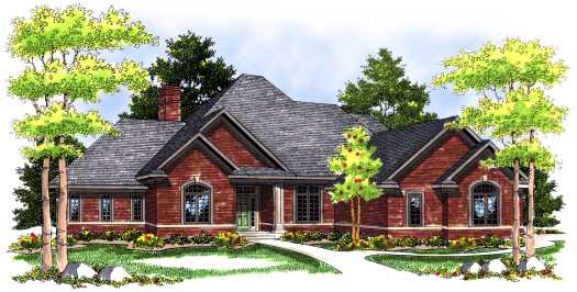 Traditional Style Home Design Plan: 7-451