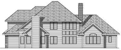 Rear Elevation Plan: 7-451