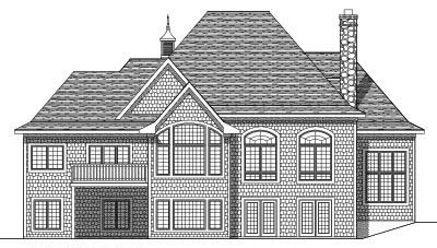 Rear Elevation Plan: 7-452