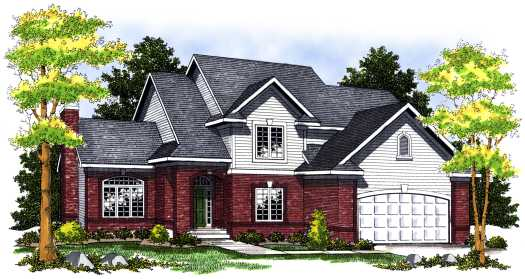 Traditional Style Home Design Plan: 7-455