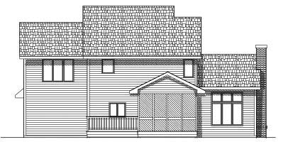 Rear Elevations Plan:7-455