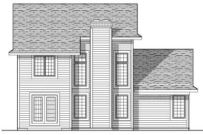 Rear Elevation Plan: 7-456